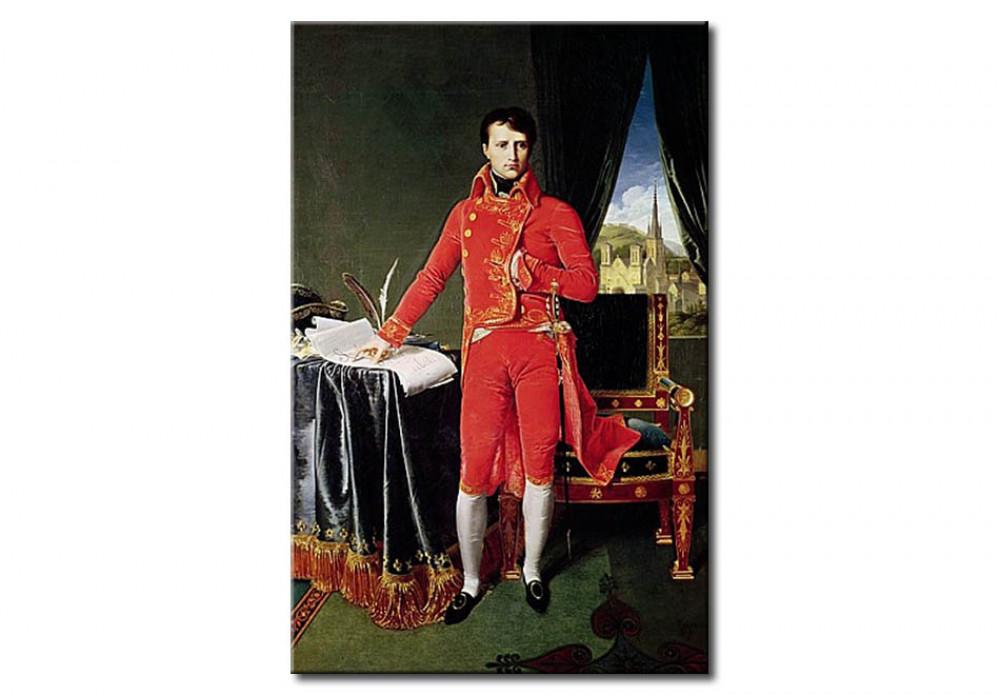Tableau reproduction Bonaparte Premier Consul - Jean-Auguste-Dominique  Ingres - Reproductions