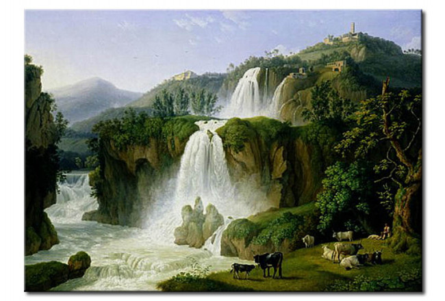 Riproduzione quadro The Waterfall at Tivoli 111655