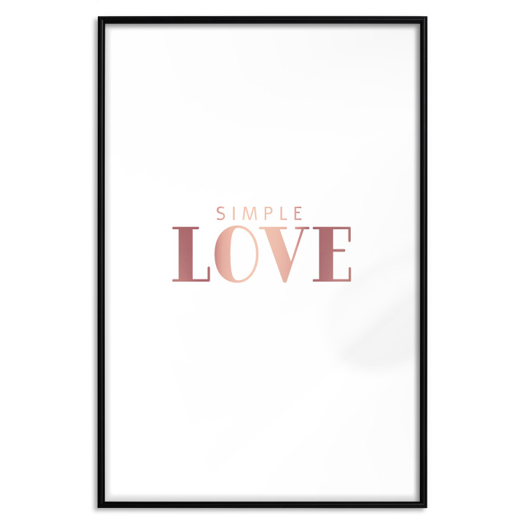 Simple Love [Deco Poster - Rose Gold]