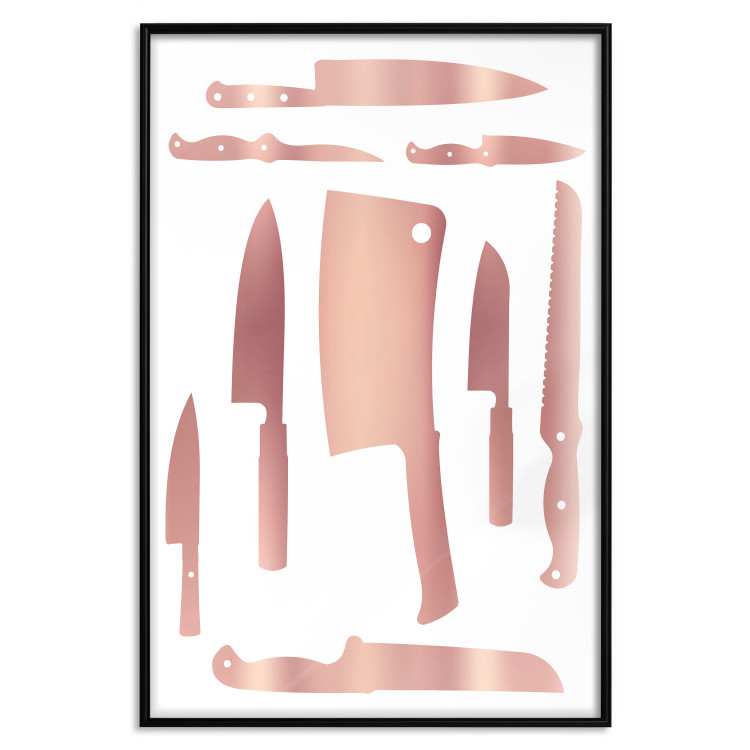 Cleaver and Knives [Deco Poster - Rose Gold]