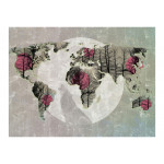 Wall Mural Map of the World - Howling to the moon 97085 additionalThumb 1