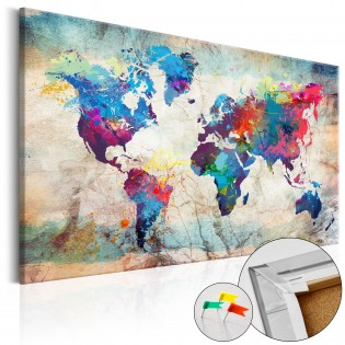 World Map: Colourful Madness [Cork Map]