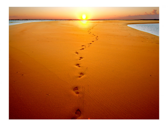 Photo Wallpaper Footprints in the sand 61595 additionalImage 1
