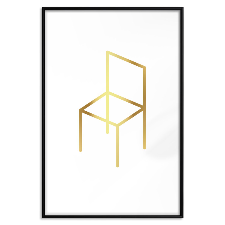 Chair [Deco Poster - Gold]