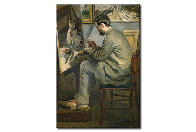 Reprodukcja obrazu Frederic Bazille at his Easel 54506
