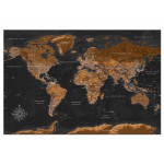 Quadro Brown World Map [Cork Map - Polish Text] 106516 additionalThumb 1