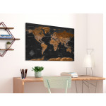 Quadro Brown World Map [Cork Map - Polish Text] 106516 additionalThumb 3