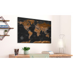 Quadro Brown World Map [Cork Map - Polish Text] 106516 additionalThumb 2
