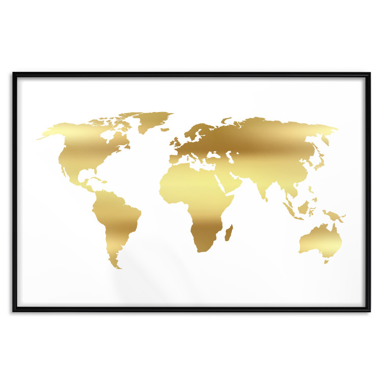 Continents [Deco Poster - Gold]