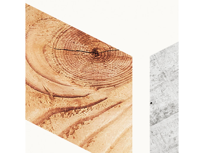 Modern Wallpaper Wood and Concrete 98216 additionalImage 2
