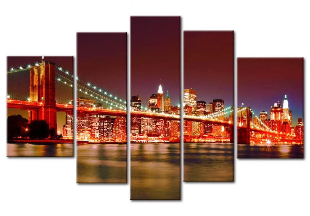 foto auf leinwand manhattan new york st dte wandbilder. Black Bedroom Furniture Sets. Home Design Ideas