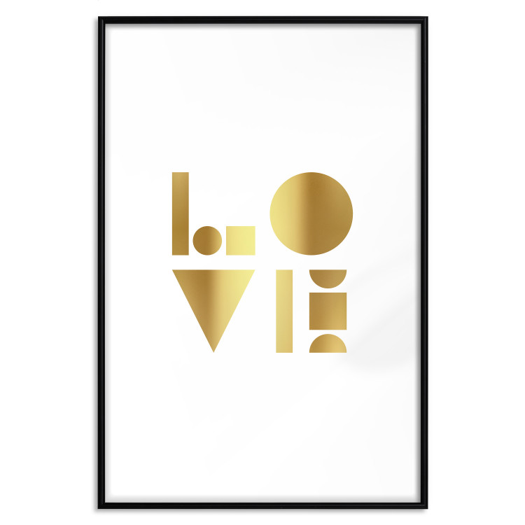 Black, White and Love [Deco Poster - Gold]