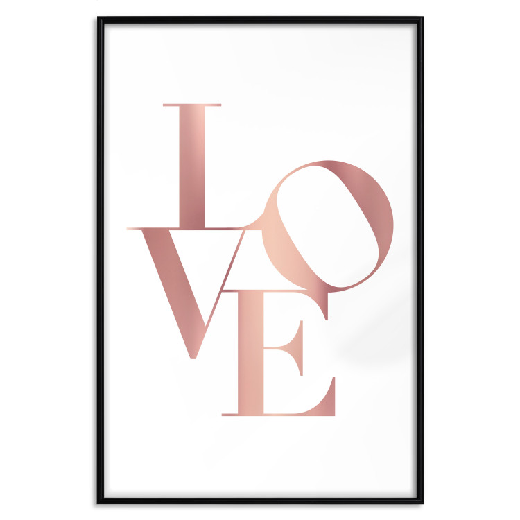 Twisted Love [Deco Poster - Rose Gold]
