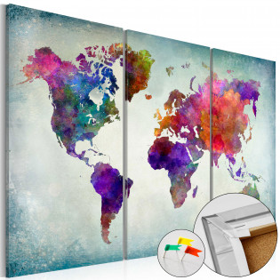 World in Colors [Cork Map]