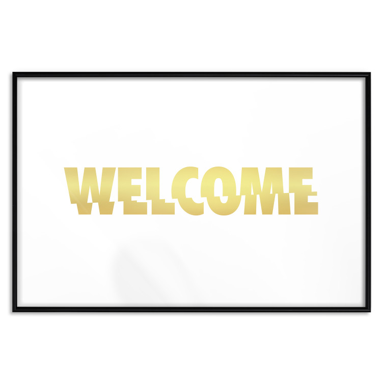 Welcome [Deco Poster - Gold]