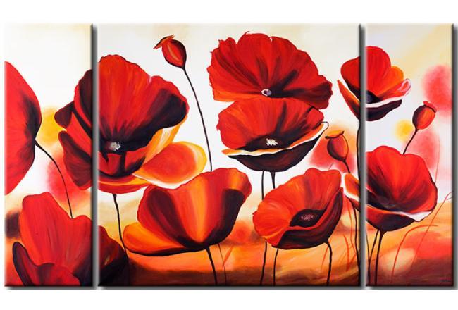 foto su tela papaveri rossi papaveri fiori quadri