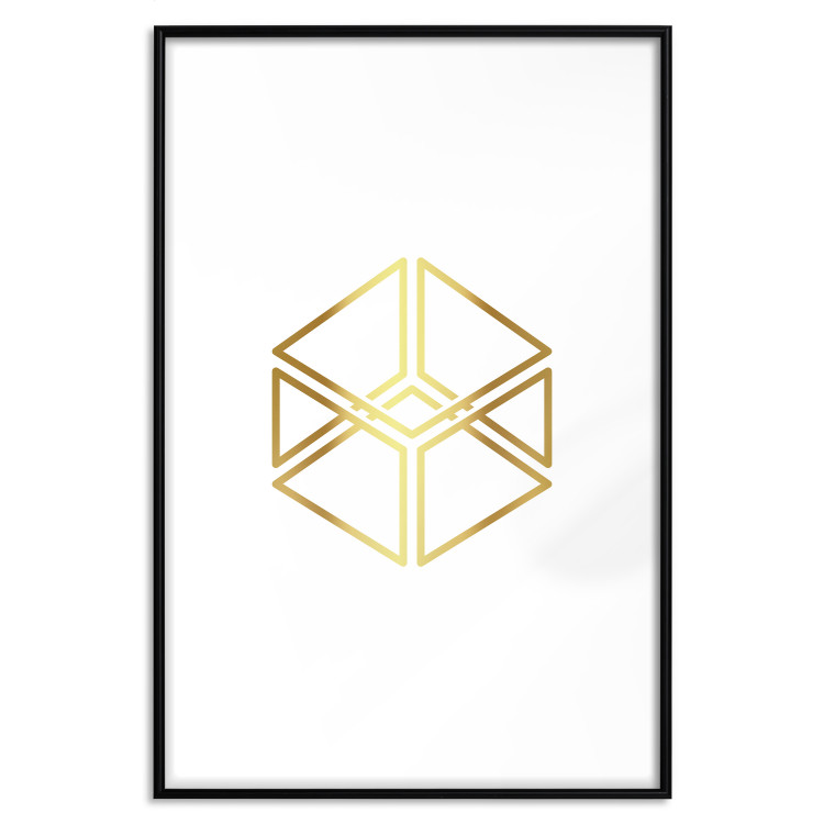 Cube [Deco Poster - Gold]