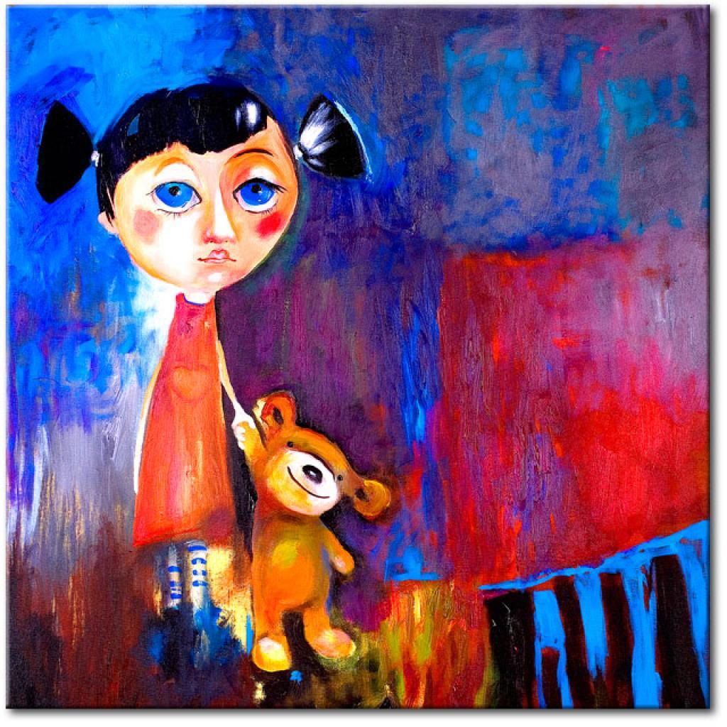 petite-fille-avec-son-ours-xxl, 50.18 EUR @ bimago