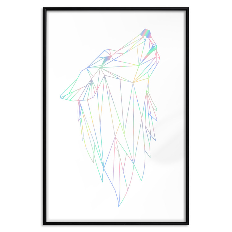 Geometric Wolf [Deco Poster - Holographic]