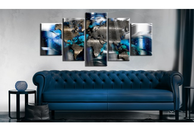 Print On Glass With Azure Accent [Glass] 92386 additionalImage 2