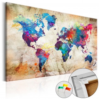 World Map: Urban Style  [Cork Map]