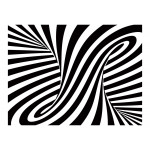 Photo Wallpaper Optical art: black and white 97686 additionalThumb 1