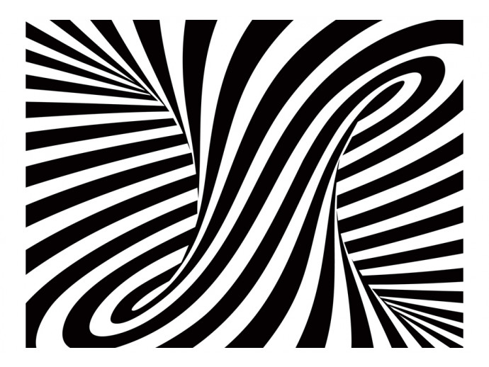 Photo Wallpaper Optical art: black and white 97686 additionalImage 1