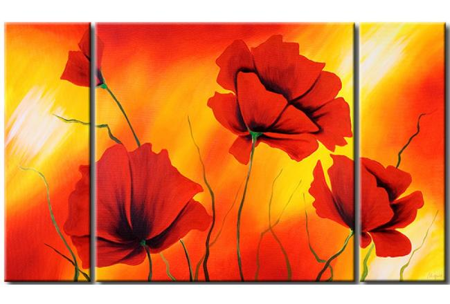 Modern painting Hot poppies 47107