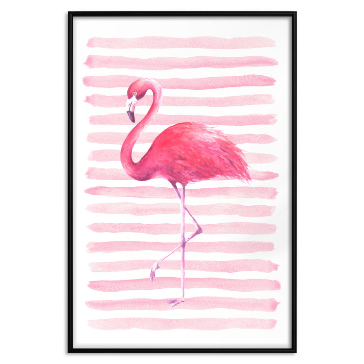 Flamingo and Stripes [Poster]