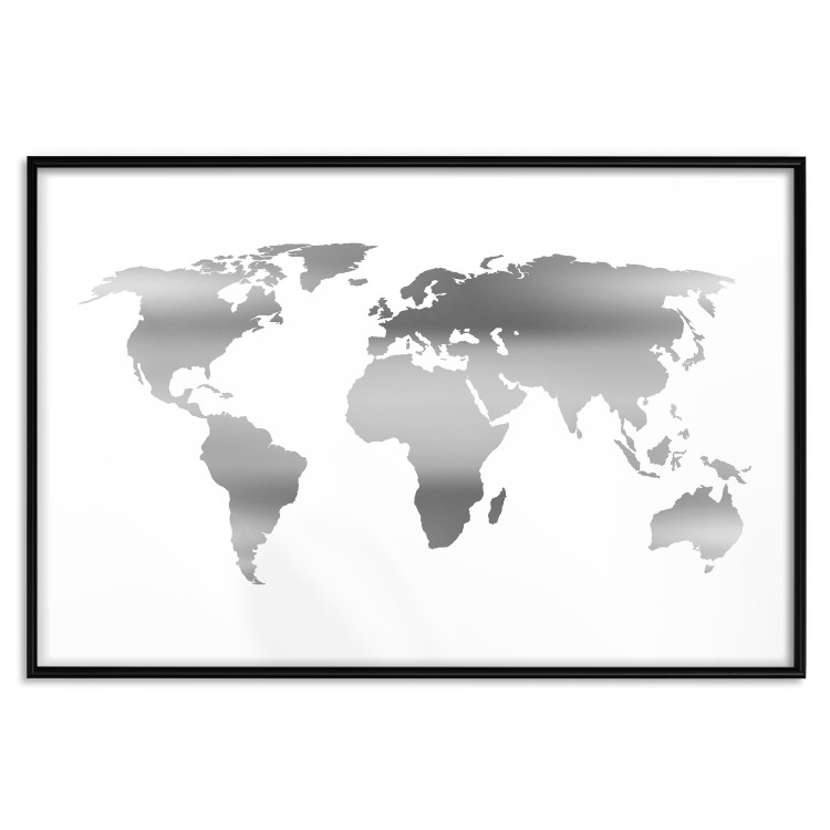 Continents [Deco Poster - Silver]