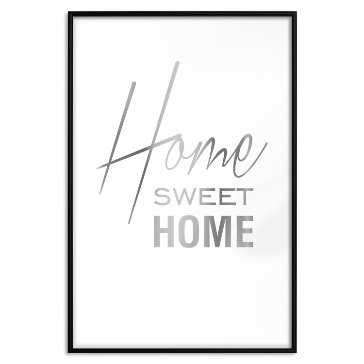 Black and White: Home Sweet Home [Deco Poster - Silver]