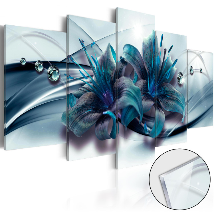 Blue Lily [Glass]