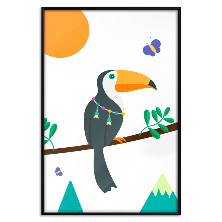 Toucan And Butterflies [Poster]