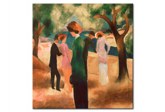august macke donna in giacca verde