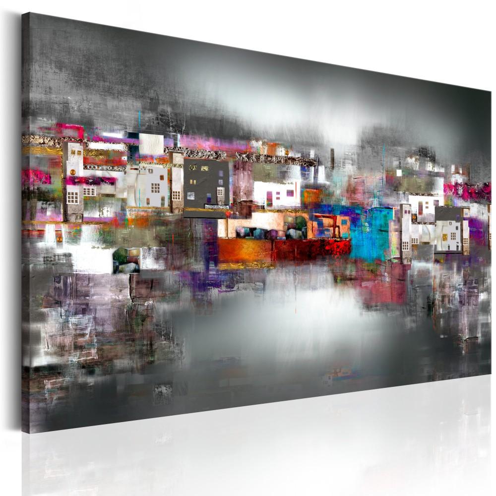 Foto auf leinwand hafen der k nstler bunt abstrakt for Moderne wandbilder auf leinwand