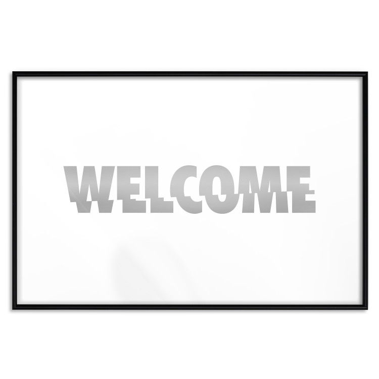 Welcome [Deco Poster - Silver]