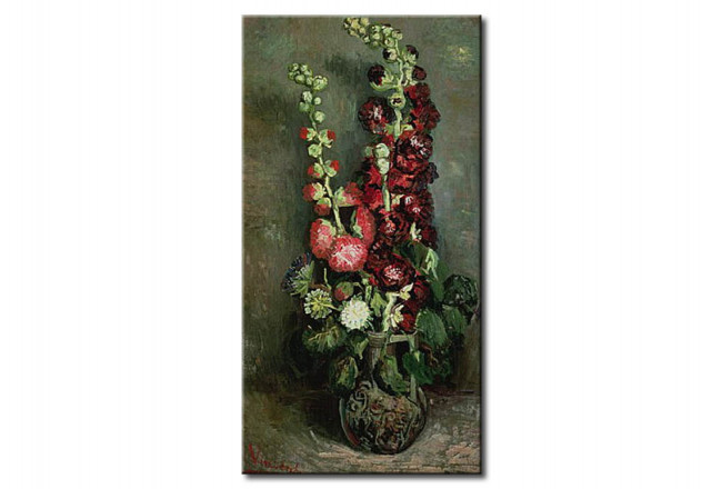Reproduction Painting Vase of Hollyhocks 52457