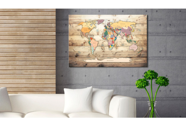 Dekorative Pinnwand The World at Your Fingertips [Cork Map] 92157 additionalImage 2