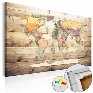 The World at Your Fingertips [Cork Map]