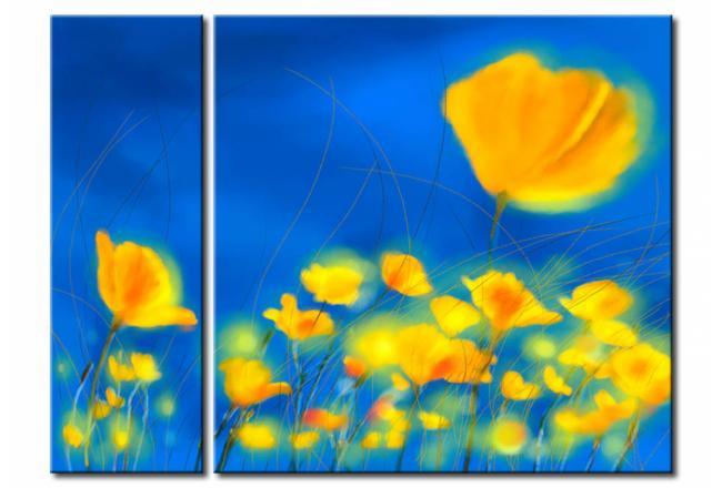 Quadro moderno Fiori gialli