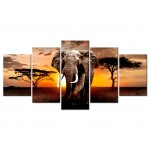Print On Glass Elephant Migration [Glass] 106187 additionalThumb 1