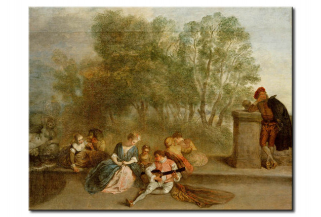 Reproduction Painting Merry company in the open air 109587