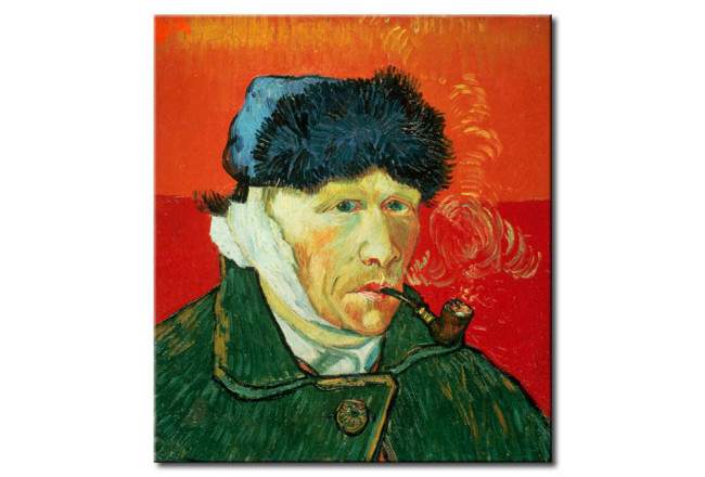 Art Reproduction Selfportrait with fur hat, bandaged ear and tobacco pipe 50887
