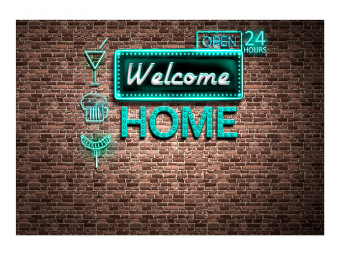 Papier peint moderne Welcome home - inscription 60887 additionalImage 1