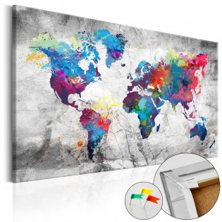 World Map: Grey Style [Cork Map]