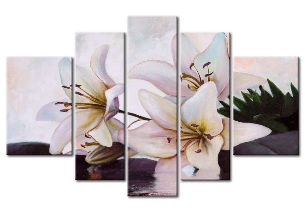 Wandbild gentle lilies lilien blumen wandbilder - Bimago cuadros modernos ...