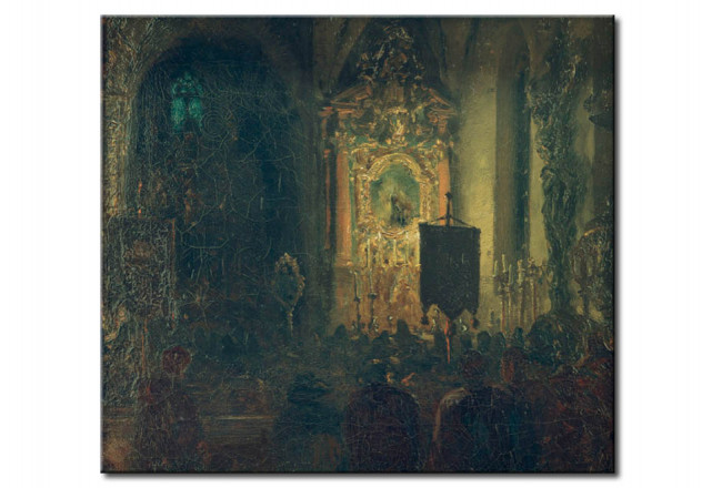 Reproduction Painting Interior of a church in Innsbruck 51097