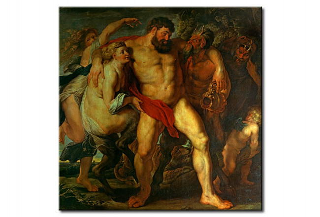 Reprodukcja The drunken Hercules, led by a Nymph and a Satyr 51697