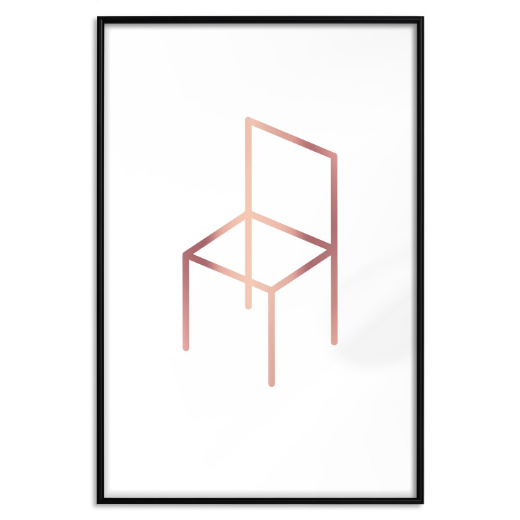 Chair [Deco Poster - Rose Gold]