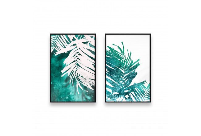 Posters set Emerald palm tree 130318 additionalImage 1